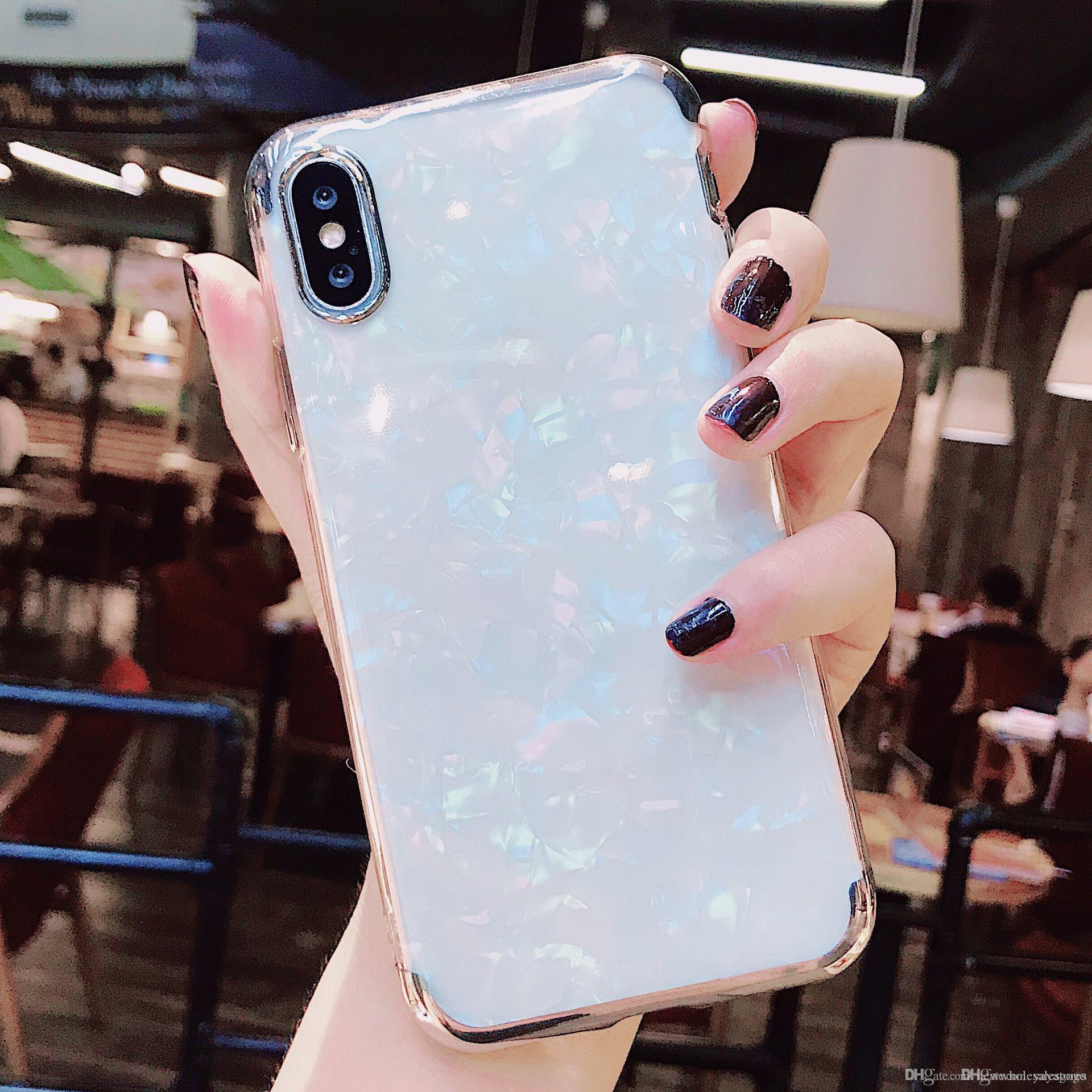 Wholesale retail Gorgeous Blu-Ray Housing Back Cover Soft TPU Silicone IMD Phone Shell Laser Marble Case for iPhone for samsung wholesales