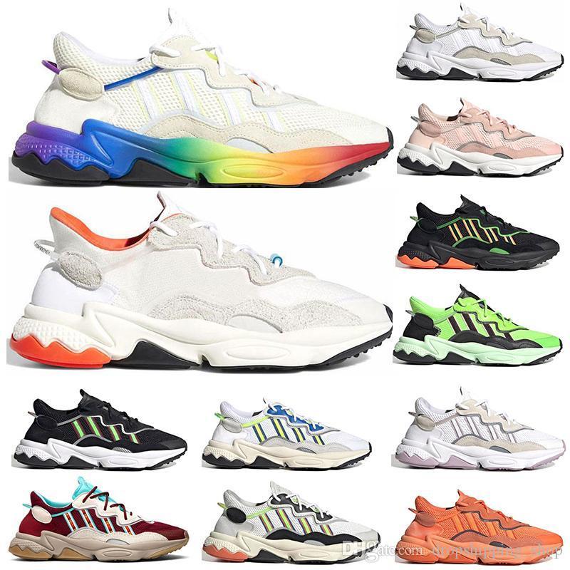 New ozweego 3M Reflective Xeno Ozweego Pride Men Women Running Shoes Neon Green Solar Yellow Halloween Tones Core Black trainer sneakers