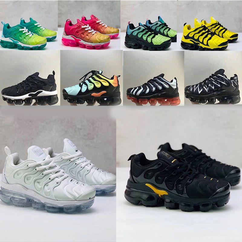 Nike Air Max TN Plus kids running shoes 2020 возраст горячим ТН классический удобную поле кузен де гри, Блан де Нуар анфан классический удобную спортивную анфан форма