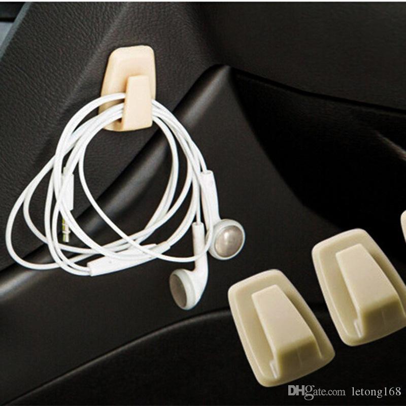 1PC Automotive gancho conveniente bolso del coche sostenedor del gancho Holder Negro ABS coche universal