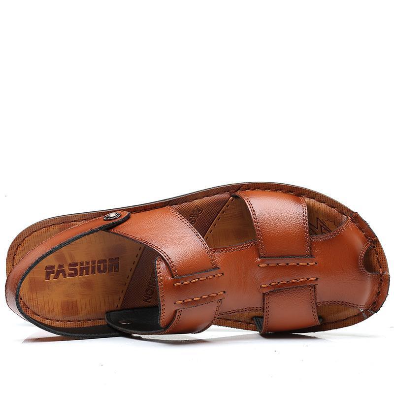 Acquista ZERO ALTRE Scarpe Da Uomo Taglie Forti Sandali Di Design In Pelle Crosta Pantofole Da Uomo Estate Scarpe Da Spiaggia Roma Gladiatore Slip