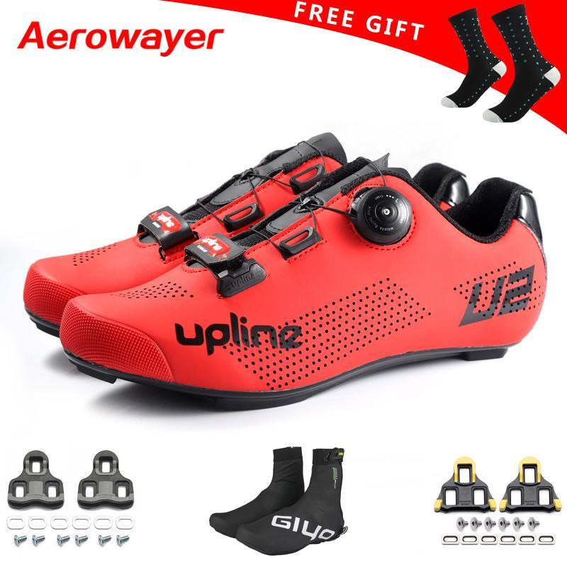 2020 ulline road cycling shoes men for SPD KEO racing road choice cover adult bicycle sneakers ultralight red white black