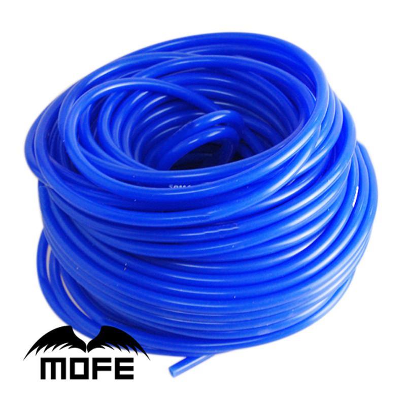 Universal 5 Medidor de 3mm / 4 milímetros / 6mm / 8 milímetros de silicone tubo de vácuo Mangueira Red Acessórios Car Yellow Silicon Tubulação azul