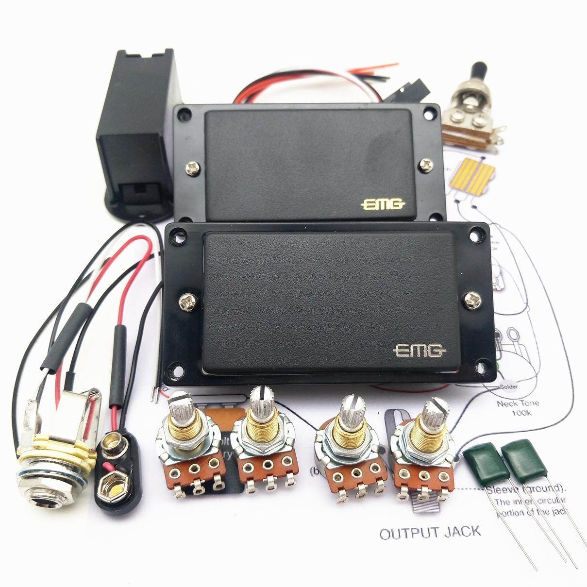 2020 Emg 81 85 Active Pickup Electric Guitar Pickups With 25k Potentiometer Parts Black From Allguitar 21 9 Dhgate Com