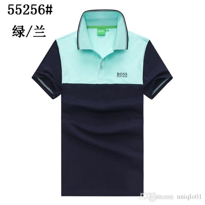 20ss design di lusso Polo traspirante al 100% T-shirt in cotone stampato modo degli uomini di marca e donna della maglietta M-3XL H456M