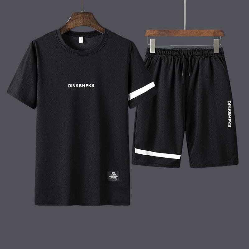 Kleidung Herrenanzug Gym Fitness Badminton Sport Anzug Jogging Jogging Sport Wear Übungs-Trainings-Set Sportkleidung 2 PC / Set