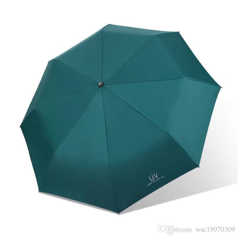 جديد التلقائي بالكامل التجارية المدمجة كبيرة إطار قوي يندبروف 8RIBS لطيف الأسود مظلات الرياح مقاومة للطي مظلة التلقائي