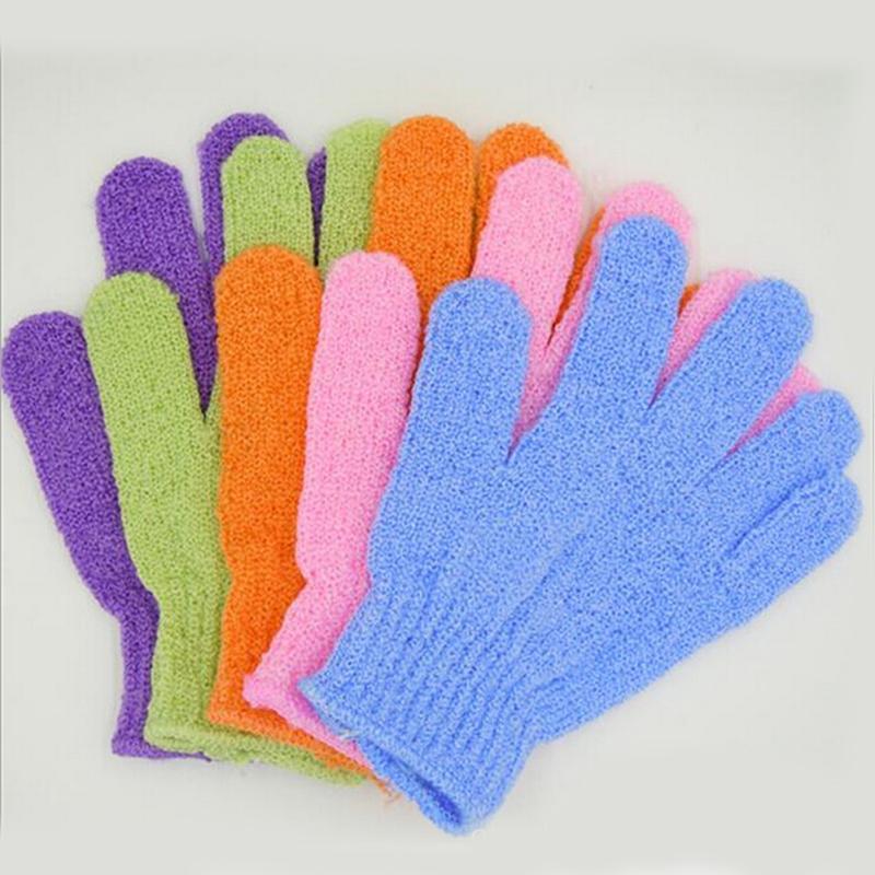 Bad Handschuh Peeling Waschen Haut Spa Massage Körper Scrubber Reiniger Duschhandschuhe Schaum Bad Körper Massage Handschuh Bad Tool SH190729