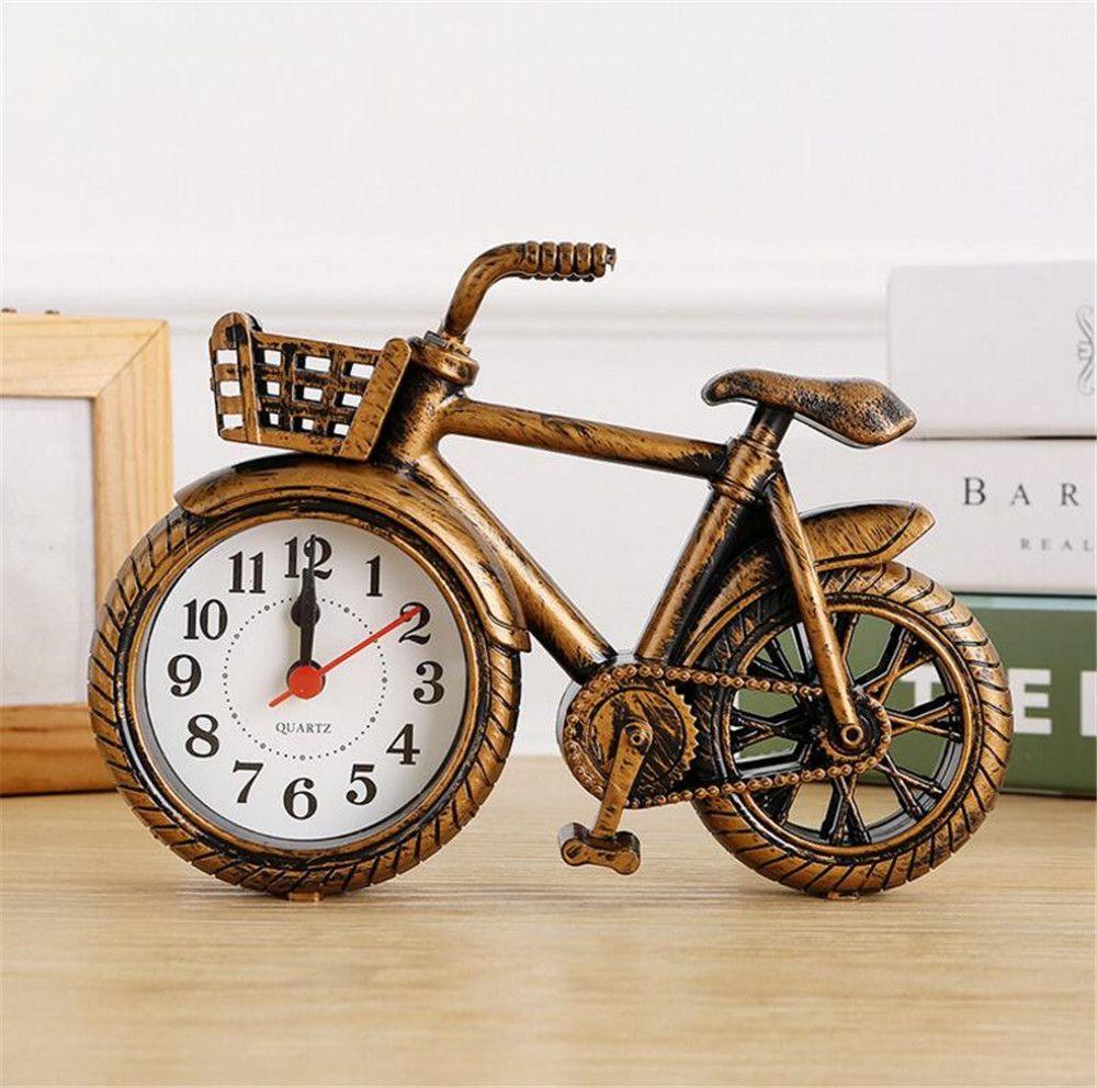 NEW Fashion Stylish Bike Shape Alarm Clock for Children Kids Bicycle Alarm Clock Home Art Decoration Best Gift A2203c