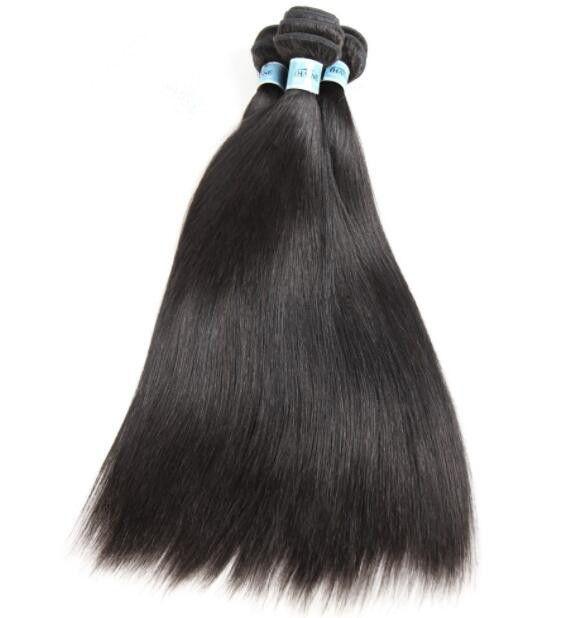 10A Grade Hair Weft Natural Black Color Hair Weaving Silky Straight Chinese Virgin Human Hair Bundles for Black Woman Fast Free Shipping!