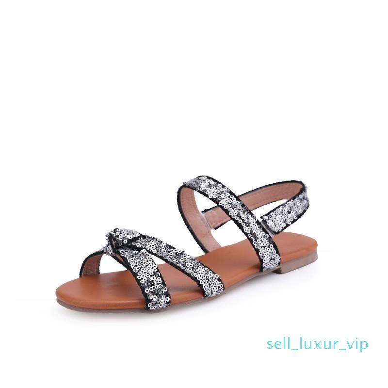 Sexy2019 Will 40414243 Code Flat Bottom Leisure Time Sandals Women's Shoes