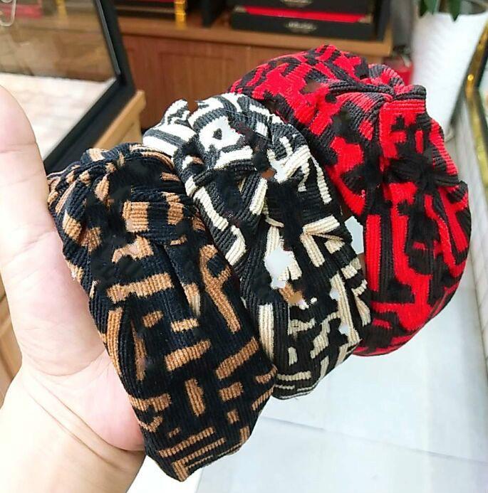 Caliente del diseño de la venda de las vendas mujeres mejor calidad de la marca de pelo rayado regalo principal de la manera de la bufanda de chicas