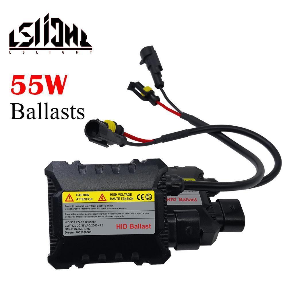 LSlight Slim HID 55W Xenon remplacement électronique conversion numérique de ballast Kit Allumeur Bloc Automobiles voiture 12V
