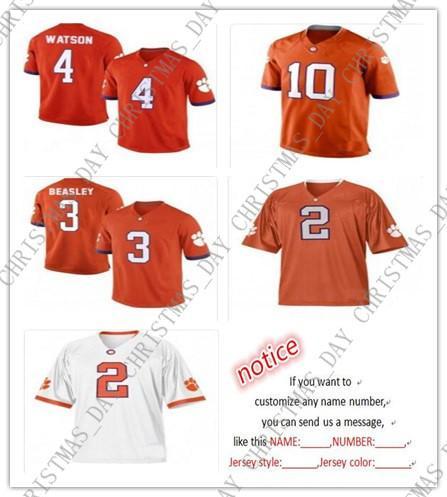 online retailer 1b5ce 5e0fb 2019 Cheap Custom Clemson Tigers Football Jerseys Deshaun Watson Sammy  Watkins Tajh Boyd Vic Beasley Stitch Customizing Any Name Number XS 5XL  From ...