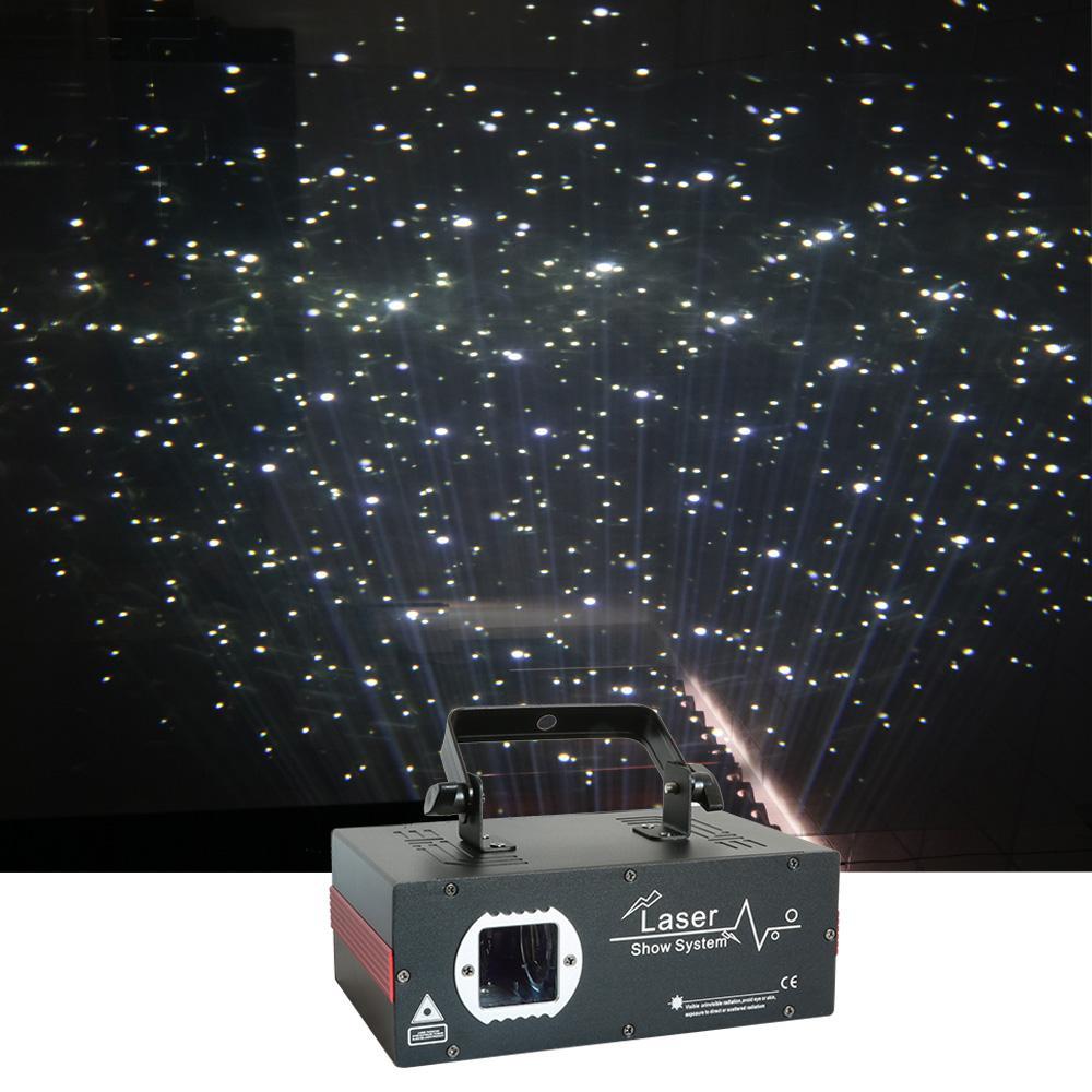 Sharelife 미니 2W 밤 하늘을 흰색 별, 우주 레이저 프로젝터 DMX DJ 홈 파티 웨딩 무대 조명 효과 크리스마스에 눈