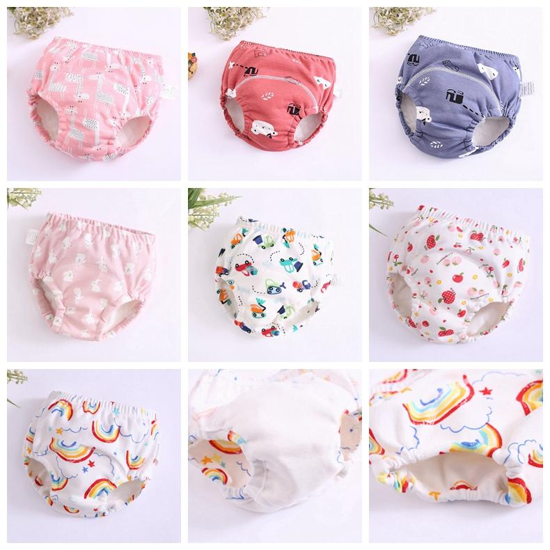 Baby Diapers 6 Layers Newborn Training Pants Reusable Infant Diaper Covers Cartoon Baby Toddler Shorts Nappies Cloth 25 Designs YW3300Q