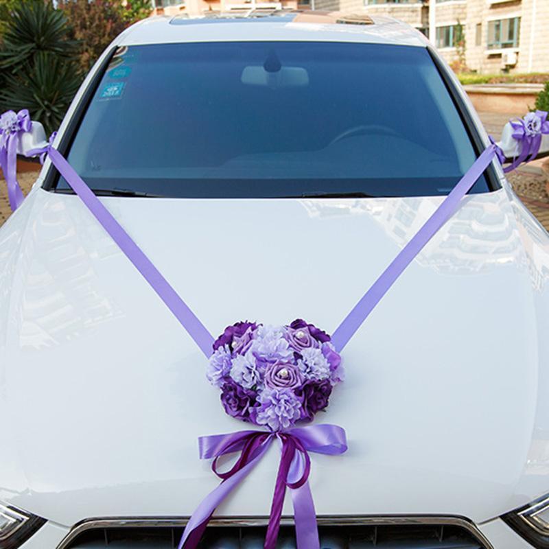 Wedding Car Decoration With Flowers  from www.dhresource.com