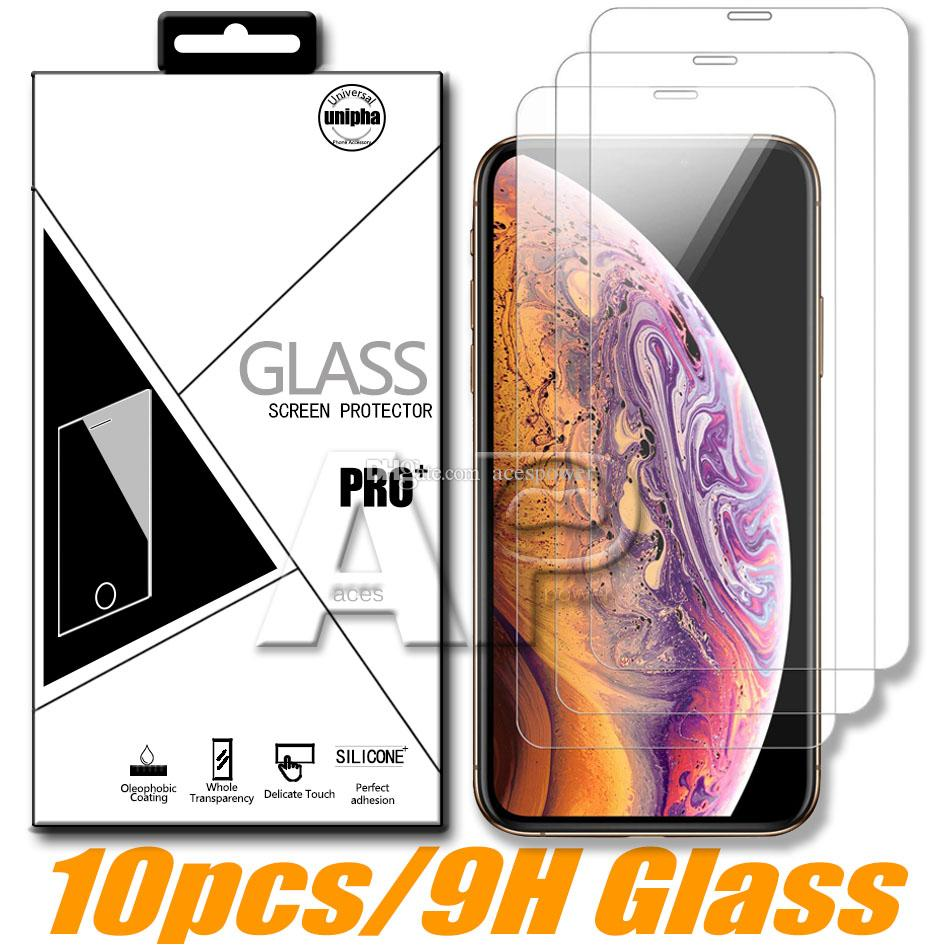 Protetor de tela para iPhone 12 mini 11 Pro XR X XS MAX 8 7 6S PLUS SE 2020 Vidro temperado com pacote