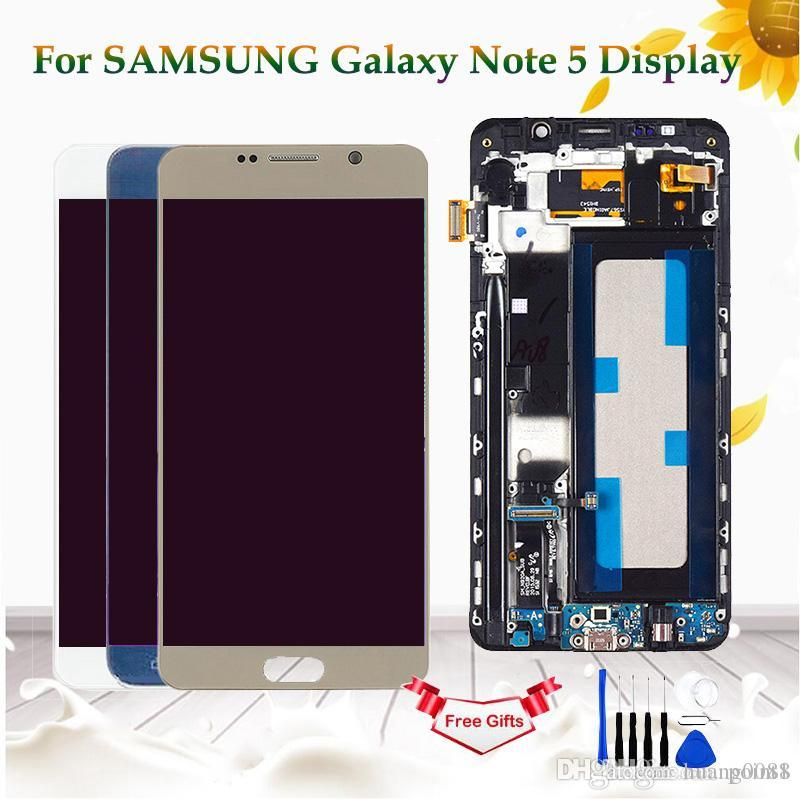 For Samsung Galaxy Note 5 N920 N920F N920A LCD Display Touch Screen Digitizer Assembly For Samsung Note 5 Display With Frame