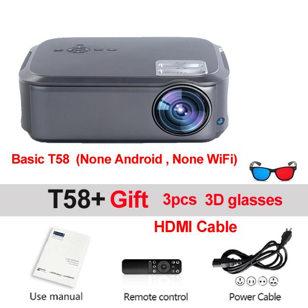 Freeshipping Full HD 1080P Projector 200inchT58 Android 9.0 WiFi LED Home Theater Projector HDMI PC Video Game Mobile Proyector Beamer