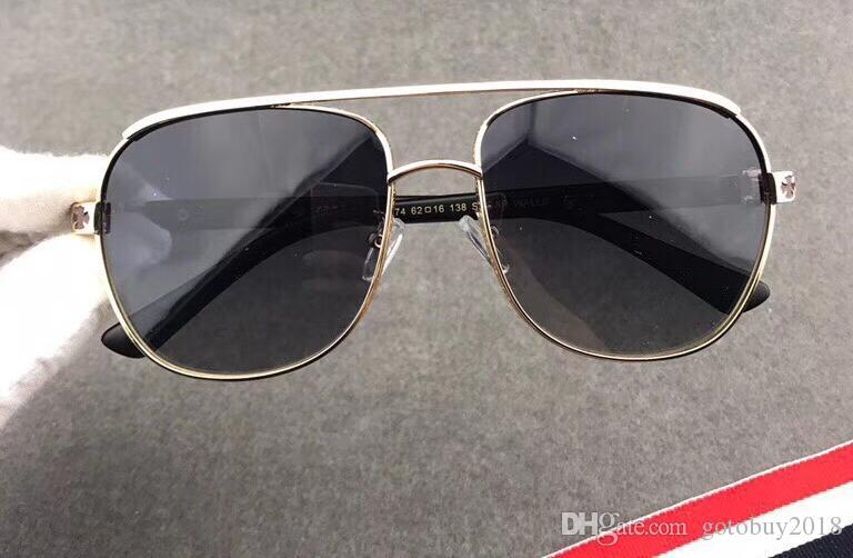 2018 новый УФ-защита цельнометаллический овальный крест рамка модные солнцезащитные очки дизайнер солнцезащитные очки мужчины горячая распродажа солнцезащитные очки