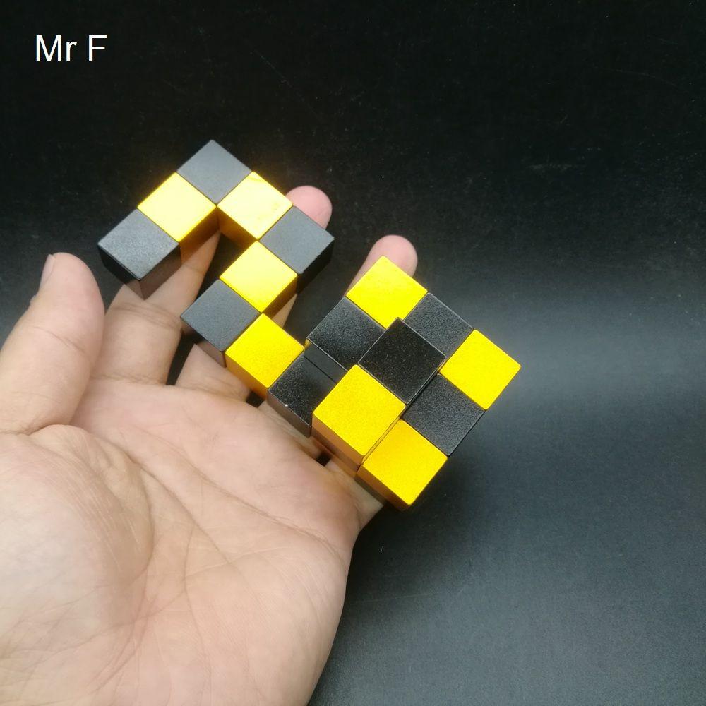 Enigma de alumínio desafiante do enigma de cérebro do metal para o brinquedo adulto do cubo