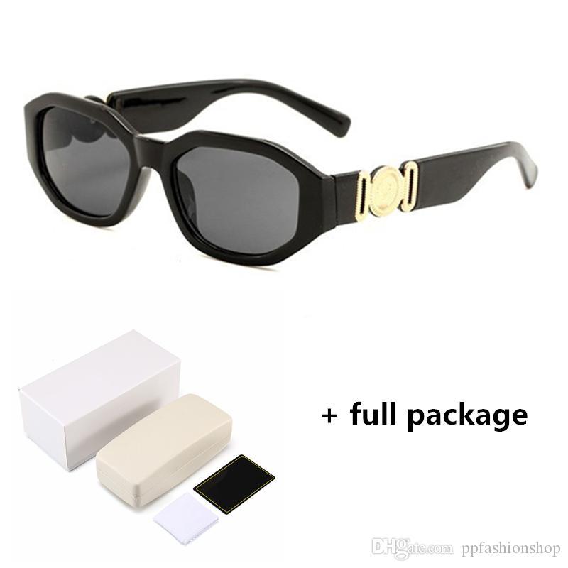 I nuovi uomini di testa 4361 occhiali da sole irregolari bicchieri piccoli signore telaio occhiali di design di moda con trasporto libero scatola