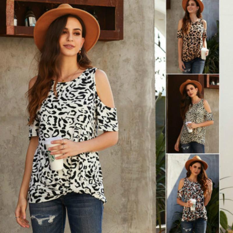 Progettista delle donne Tees leopardo la breve maglietta Ladys di marca della stampa Top Fashion Lady giornaliera Abbigliamento T-shirt T-shirt casuale Superiore all'ingrosso di qualità