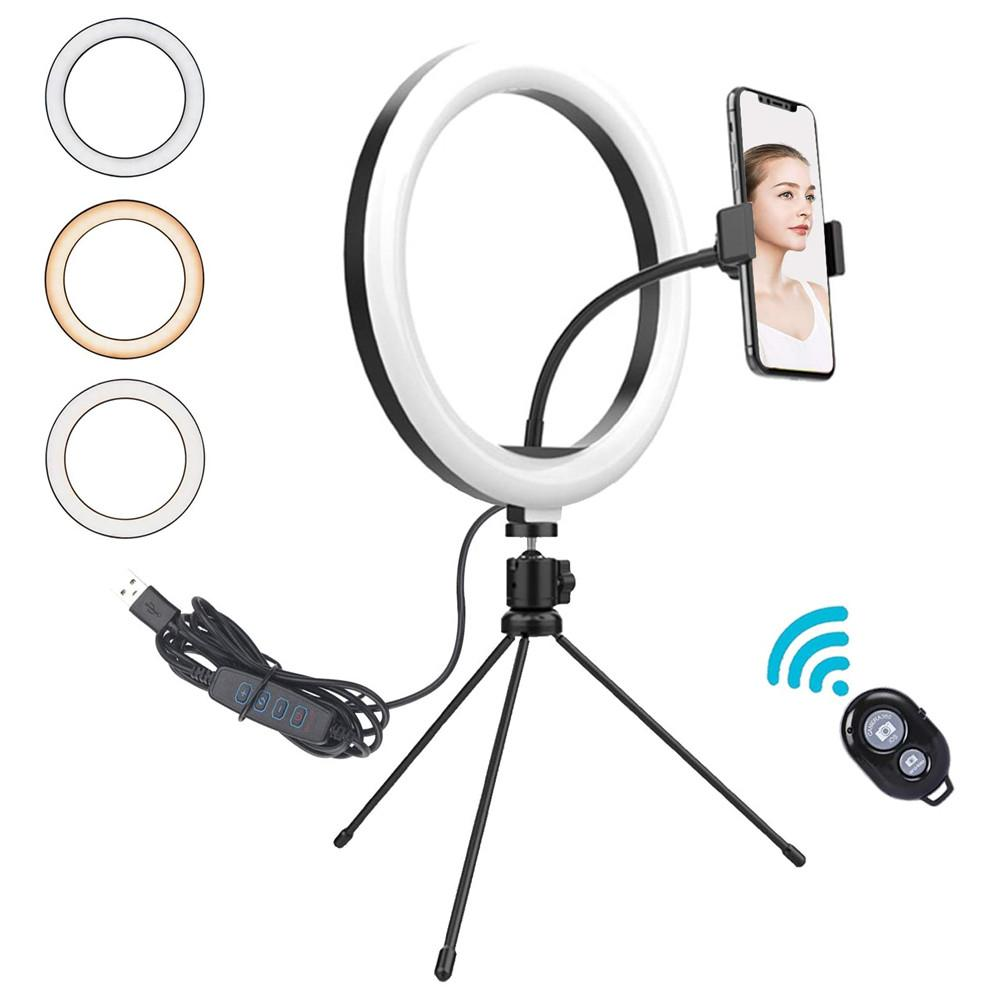 LED ring lamp 8 Inch 10 inch USB Live Selfie light Stick Beauty tabletop holder Table Top Lamp Camera Video Tiktok Led Ring Light Portable