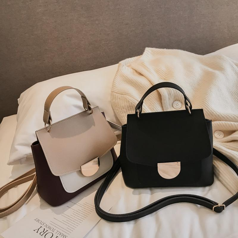 Free2019 Woman Bag Tide Collision Handbag All-match Messenger Small Square Package