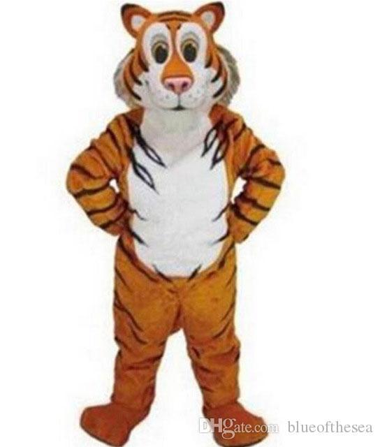 Tigre mascota traje de la mascota EVA de dibujos animados tamaño adulto animal amarillo de dibujos animados para la fiesta de Navidad de Halloween disfraces