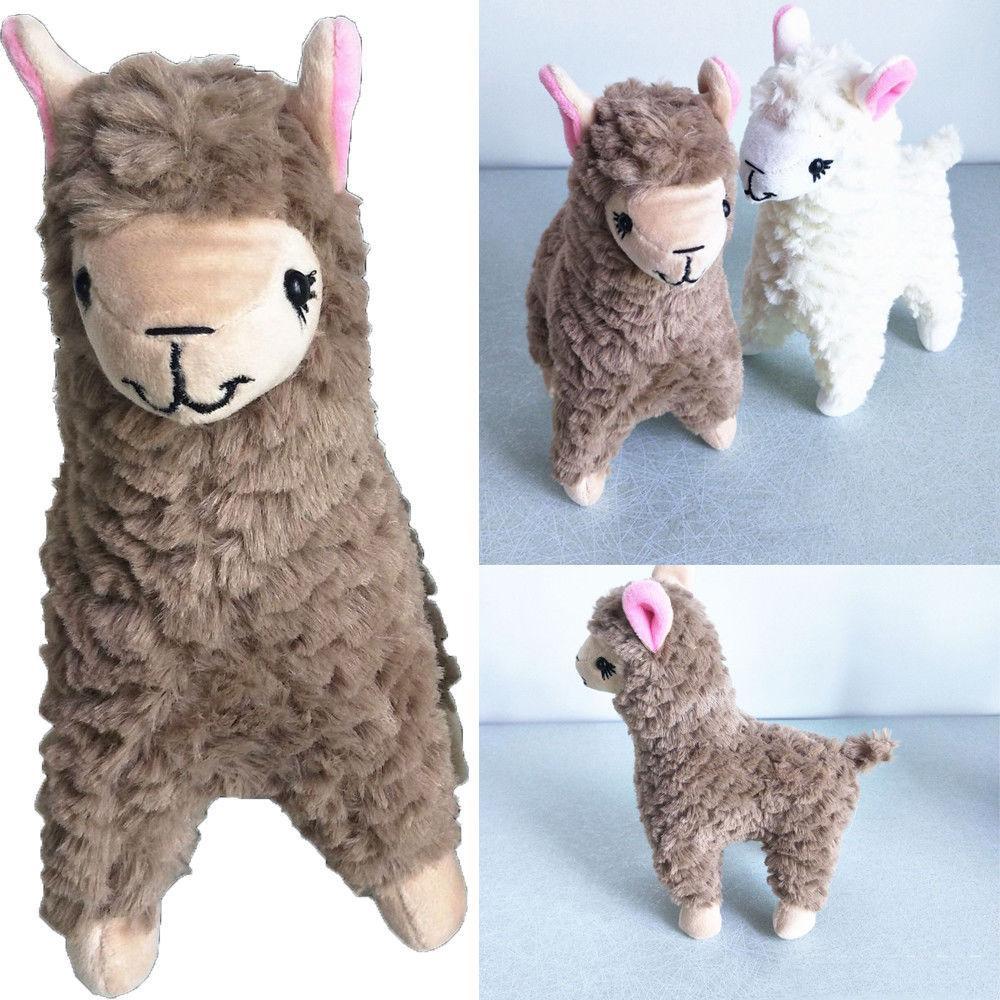 사랑 스럽다 작은 잔디 진흙 말 알파카 플러시 장난감 인형 아이들이 좋아하는 선물 장난감 2pcs