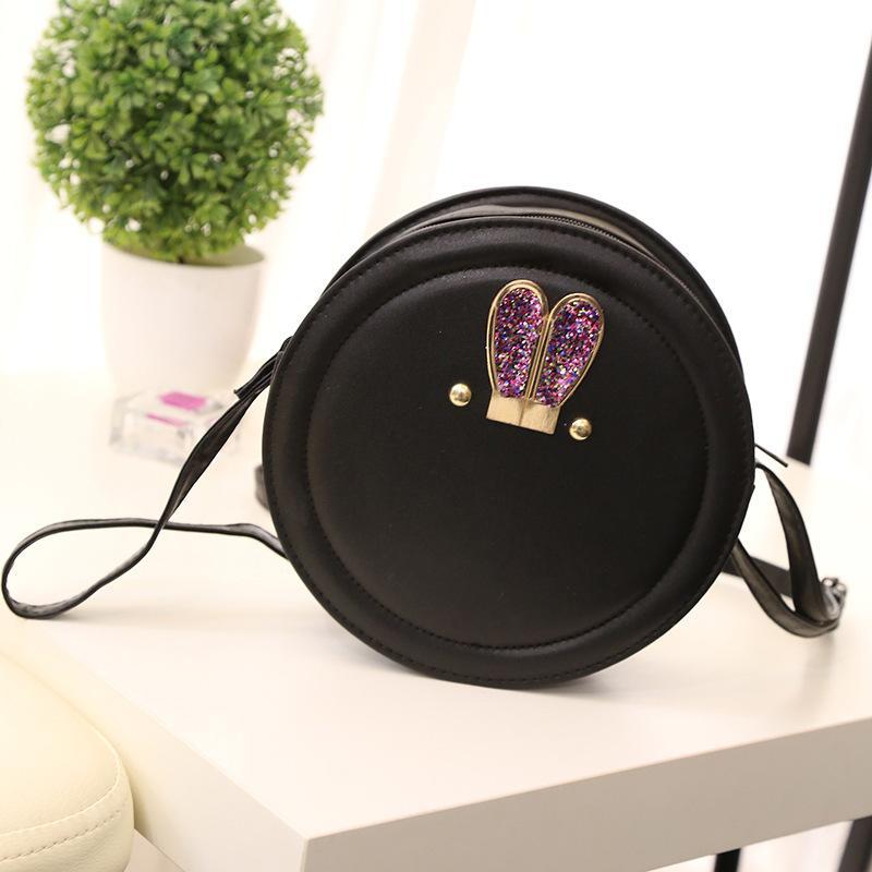 Las mujeres bolsos de hombro del diseñador de moda de Nueva PU de los bolsos de cuero Bolsas para mujeres Ronda de dibujos animados lindo de la muchacha bolsa de mensajero femenino