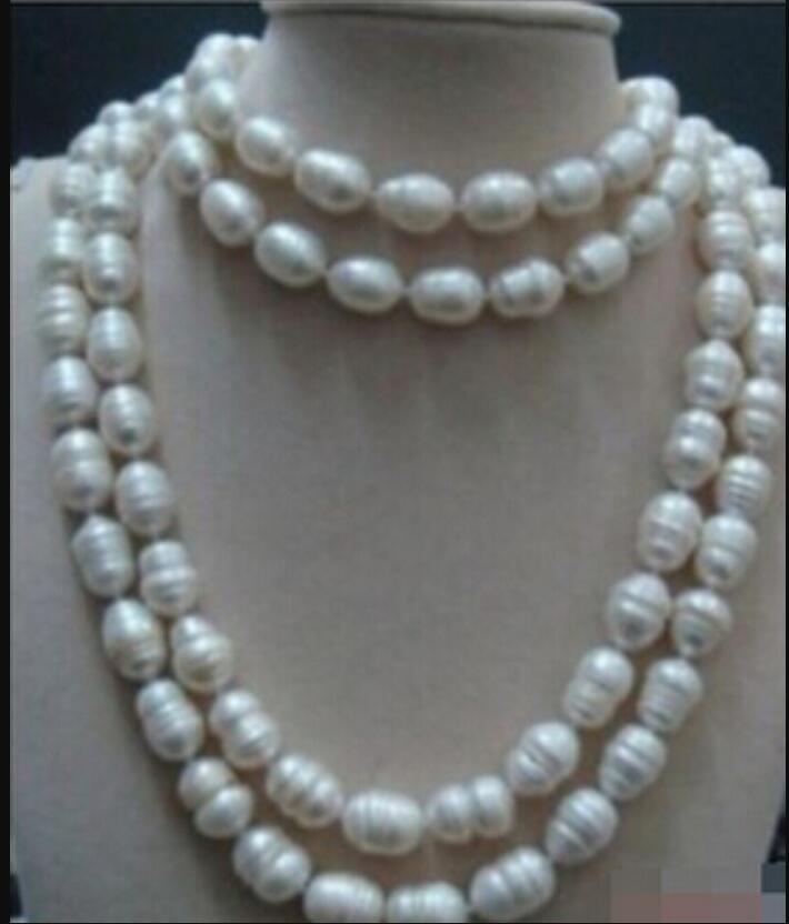 Australian Südsees weiße barocke Perlenkette 48inch Halskette 11-14mm