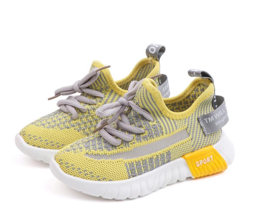 Kid Designer Sneaker chaussures chaussures de noix de coco à mouches respirantes mouches neuves 2019 Grandes garçons Chaussures Kid Hommes Black Kids Sneaker 2pcs