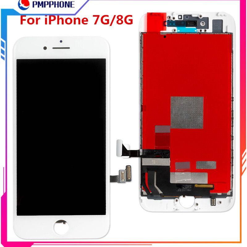 Bästa högkvalitativa för iPhone 7G 8G LCD-skärm Display Digitizer Assembly Ersättning Reparation Delar Svart Vit Fri frakt