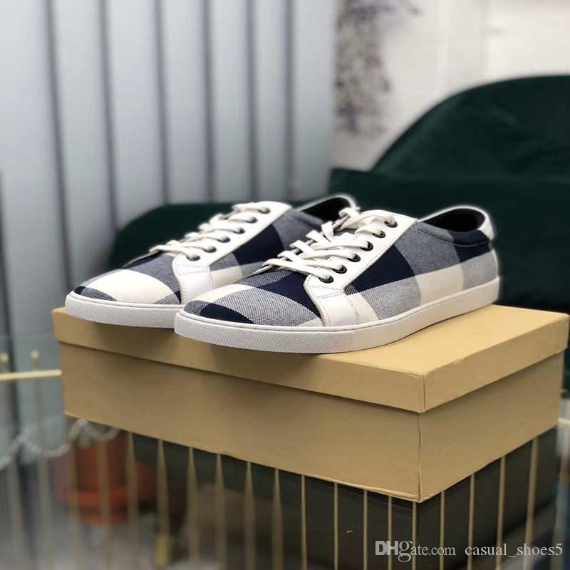 2020 migliore qualità della tela plaid mens sovradimensionato scarpe da donna scarpe famose partito Parigi scarpe da ginnastica con suola larga AA4
