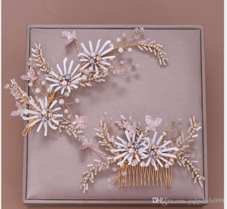 Cristal peigne de fleurs, peigne mariée, fleur peigne, mariage couvre-chef
