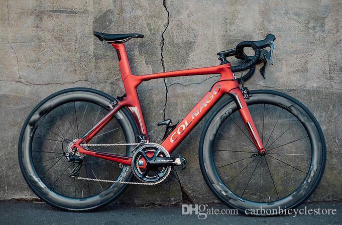 Rouge NJRD Colnago Concept Carbon Matte Complete Bike 50mm WheelSet R7010 Mount direct Colnago Guidon Selle