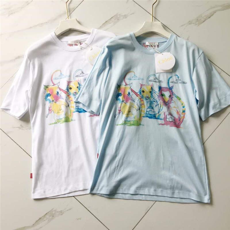 Kadınlar Tasarımcı T Gömlek GG Marka Tees Renkli Harfler Baskılı Kısa Kollu Desen Stil Lüks Kız T Shirts
