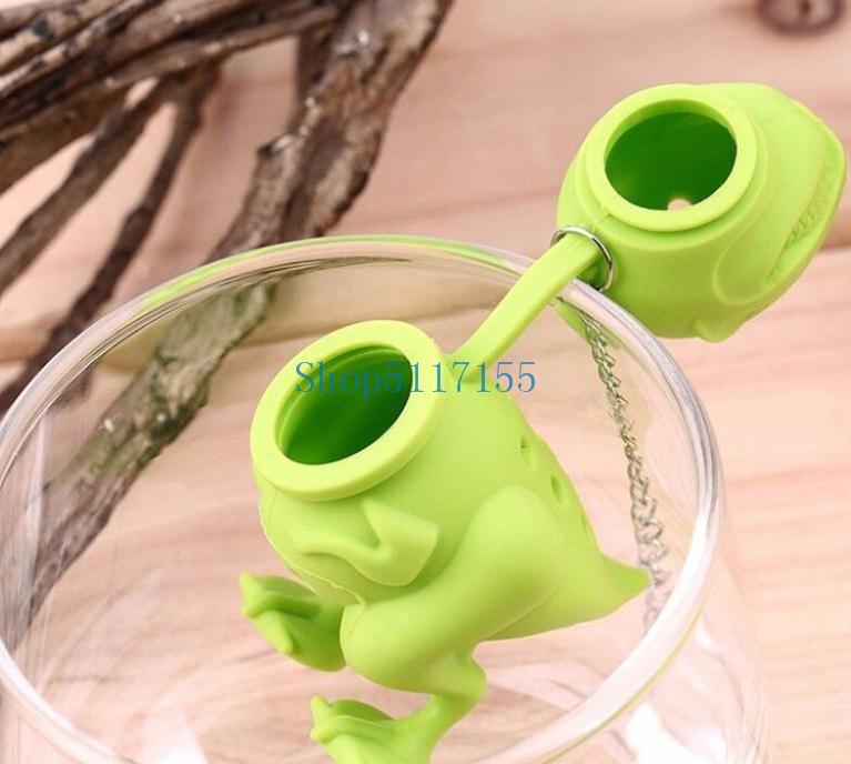 Dinosaur Tea Infuser Loose Leaf Passoire à base de plantes Filtre silicone diffuseur populaire New 200PCS