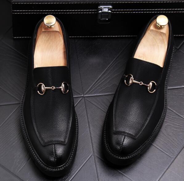 zapatos de vestir de los hombres Casual de los hombres poco hebilla de hebilla Homecoming zapatos de vestir hombres pisos boda zapatos de fiesta 257