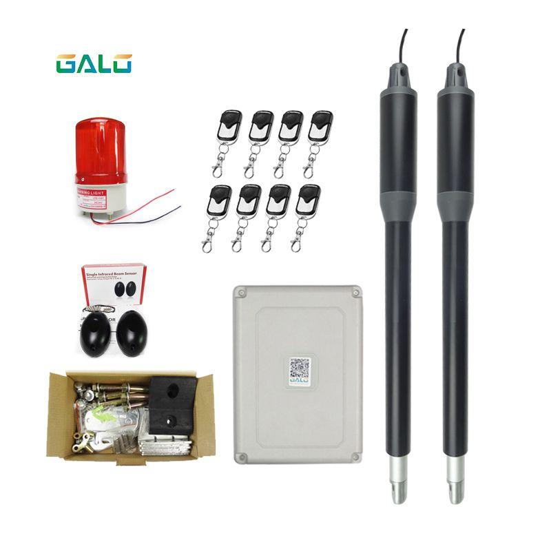GALO 2019, o mais recente design de liga de alumínio para uso doméstico, kit de abertura de porta de balanço duplo com 8 monitoramento remoto opcional