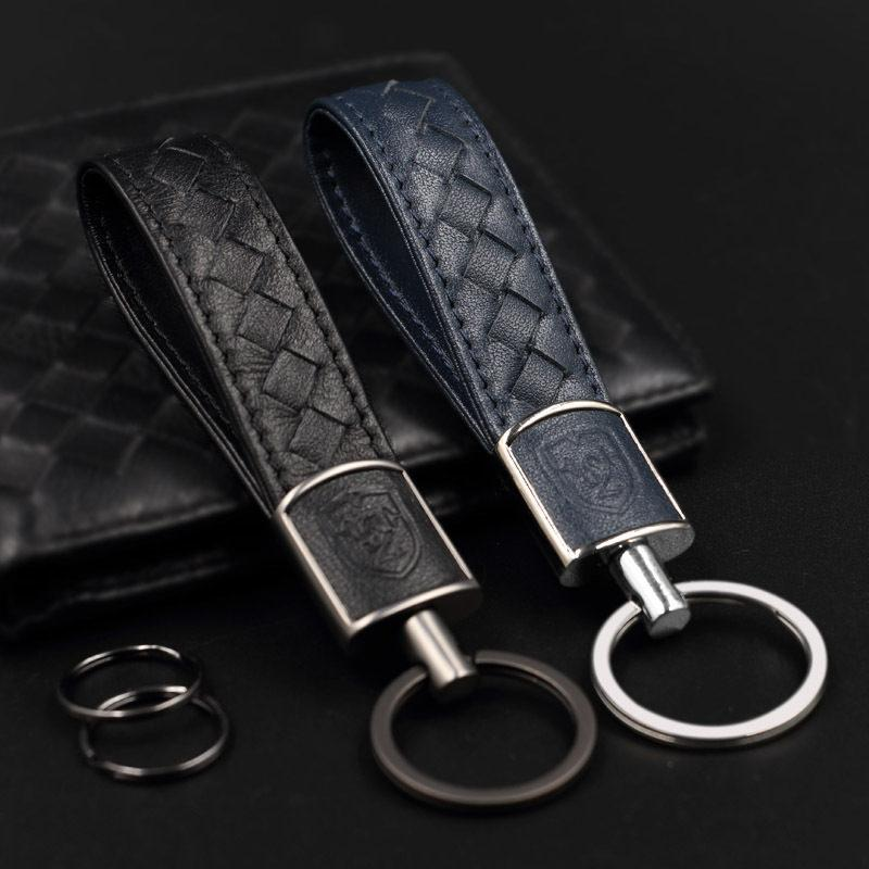 New Creative Cute Alloy Camera Vintage Woven Leather Key Chain Women Men Gifts
