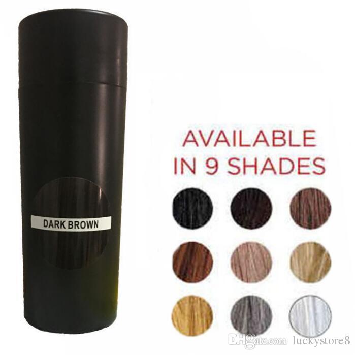 Kératine Naturel Fibre de cheveux de la kératine 27.5g Cheveux noirs Construire la perte de fibres de fibre de coiffeur coiffeur coiffeur couvercle de poudre