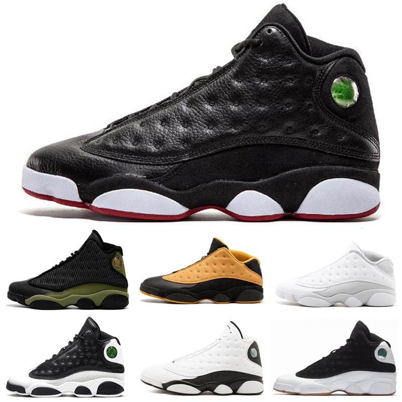 Hommes Chaussures de basket-ball Jumpman 13 Bred True Black Red Moon particules Classe d'obtention 2002 Discount Chaussures de sport Femmes 13s Black Cat