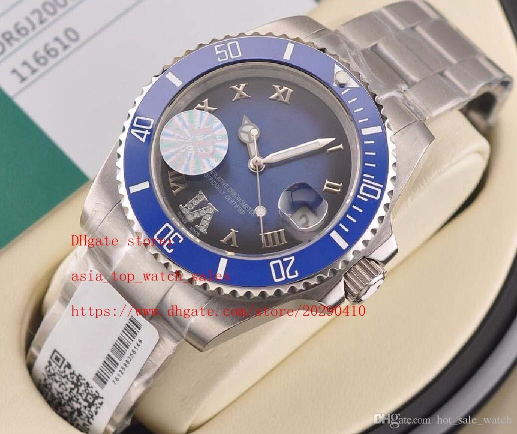 Супер завод водонепроницаемый часы новый 8 стиль 116610 116618 Керамическая рамка сапфировое стекло 40мм циферблат 8215 Механические автоматические Мужские часы Нет коробки
