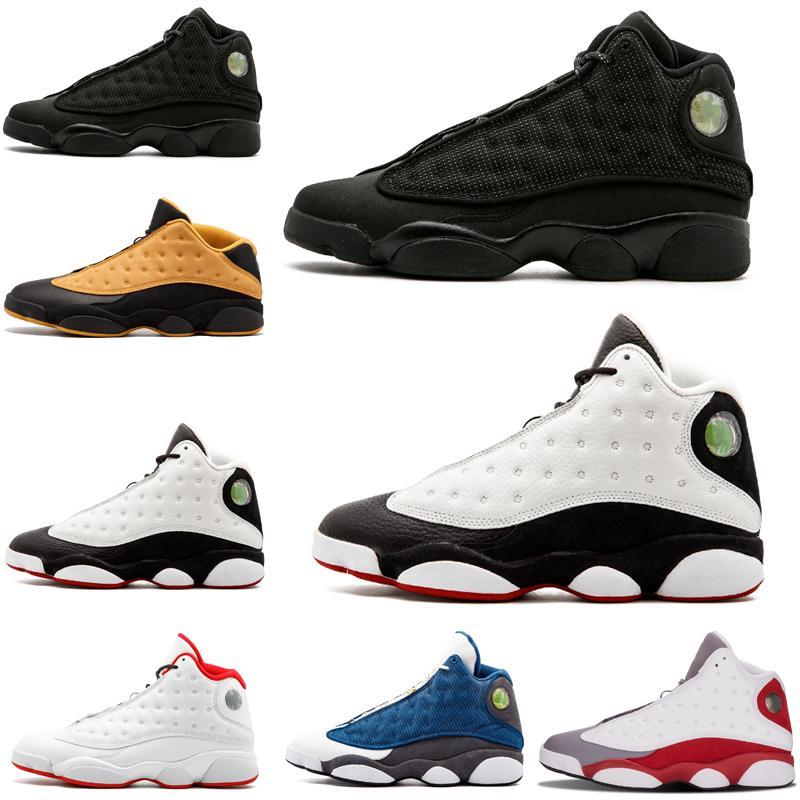Yeni 13 erkek basketbol ayakkabıları Phantom Hiper Kraliyet İtalya Mavi Bordo Flints Chicago Bred DMP Buğday Zeytin Fildişi stilist ayakkabı Boyut ABD 8-13