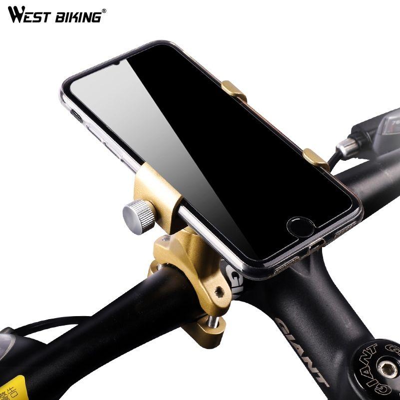 WEST BIKING Universal 360 Rotation Smart Phone Holder Bike Racks For Mobile Phone Flexible Motorcycle Bicycle Racks Stand Mount #41713