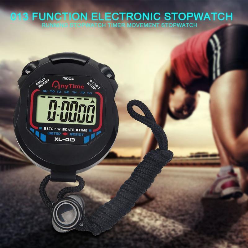 Nuova vendita Classic Handheld Digital professionale LCD cronografo sportivo cronometro Timer Cronometro con lo spago